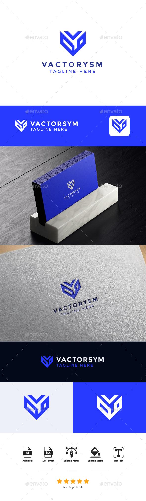 Logo Letter V - VACTORYSM