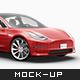 Tesla Model 3 Electric Car Mockup - GraphicRiver Item for Sale