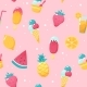Summer Ice Cream and Fruits Pattern - GraphicRiver Item for Sale