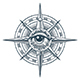 Wind Rose Compass with All Seeing Eye Inside Tattoo - GraphicRiver Item for Sale