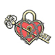 Heart Shaped Lock with a Key Tattoo - GraphicRiver Item for Sale