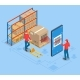 Isometric Smart Warehouse Management System - GraphicRiver Item for Sale