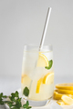 Cold Lemonade with Paper Straw. - PhotoDune Item for Sale