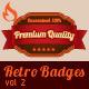 Retro Badges vol 2 - GraphicRiver Item for Sale