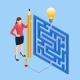 Isometric Maze Labyrinth Solution - GraphicRiver Item for Sale