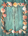Seashells frame - PhotoDune Item for Sale