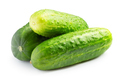 Ripe cucumbers isolated on white background - PhotoDune Item for Sale