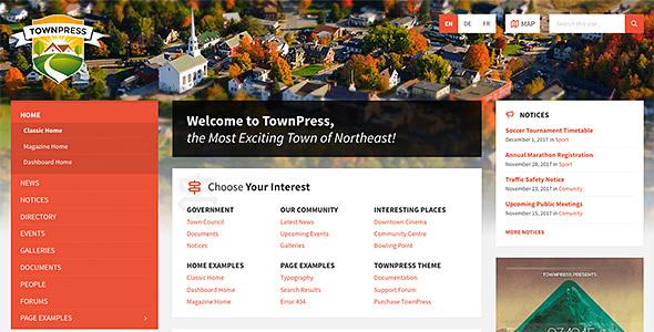 TownPress - Municipality WordPress Theme