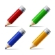 Set of Different Colored Pencils Isolated on White - GraphicRiver Item for Sale