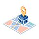 Isometric Shopping Store on The Map with Gps Navigation - GraphicRiver Item for Sale