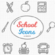 School Icon - 40 Objects - GraphicRiver Item for Sale