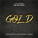 GOLD Text Effect - GraphicRiver Item for Sale