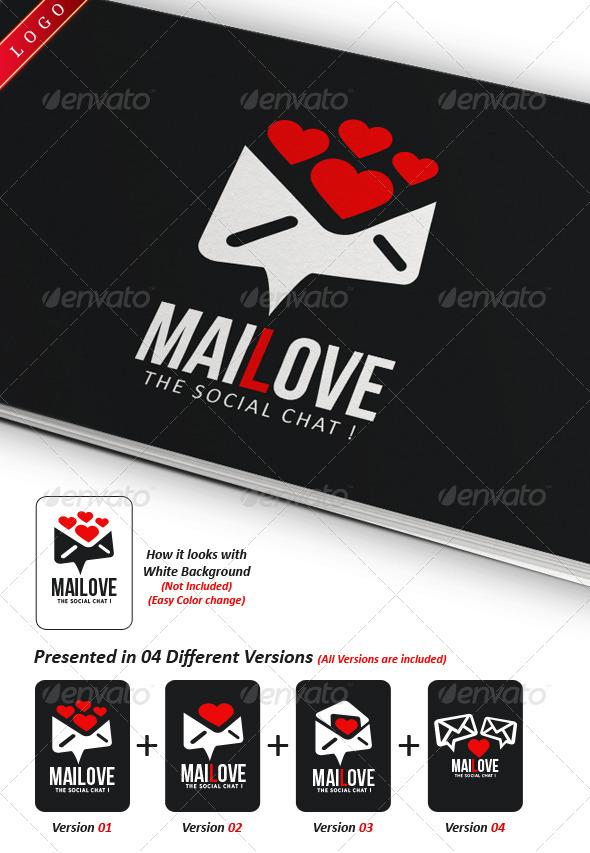 Mailove Logo Template