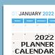 Calendar 2022 Planner Design [Monday] - GraphicRiver Item for Sale