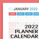 Calendar 2022 Planner Design [Sunday] - GraphicRiver Item for Sale