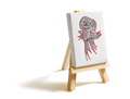 Canvas painted by child on easel isolated on white background - PhotoDune Item for Sale