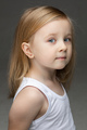 Cute little girl in white undershirt standing alone - PhotoDune Item for Sale