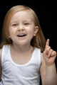 Pretty child expressing joy while getting great idea - PhotoDune Item for Sale