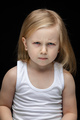 Stubborn kid being in bad mood and frowning - PhotoDune Item for Sale