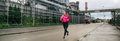 Woman running in an industrial zone - PhotoDune Item for Sale