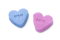 Heart shaped sweet candy with text on white background - PhotoDune Item for Sale