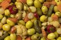 Mixture of preserved olives and vegetables close up full frame - PhotoDune Item for Sale
