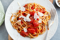 Tomato pasta with cheese on plate - PhotoDune Item for Sale