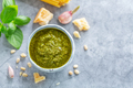 Pesto sauce in small bowl on table - PhotoDune Item for Sale
