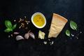 Ingredients for making pesto on dark - PhotoDune Item for Sale
