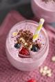 Tasty berry milkshake in glasses - PhotoDune Item for Sale