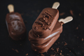 Dark chocolate ice cream with chocolate chunks - PhotoDune Item for Sale