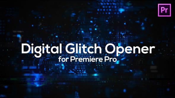 Glitch Technology Opener for Premiere Pro
