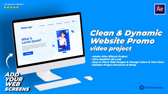 Dynamic & Clean Website Promo Video