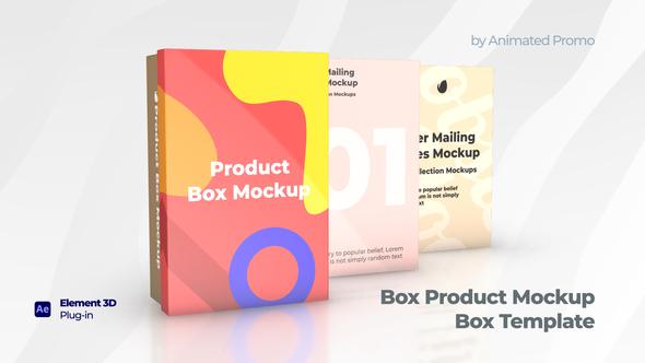 Box Product Mockup - Shoes Box Template