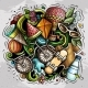 Summer Vector Doodles Illustration - GraphicRiver Item for Sale