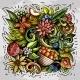 Summer Nature Vector Doodles Illustration - GraphicRiver Item for Sale