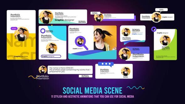 Social Media Post Scenes