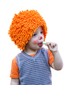 Clown child eating a lollipop on white background - PhotoDune Item for Sale