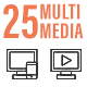 25 Online Multimedia Line Icon - GraphicRiver Item for Sale