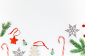 Christmas decoration pattern on white background - PhotoDune Item for Sale