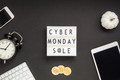 Cyber Monday sale text on white lightbox - PhotoDune Item for Sale