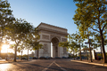 View of Arc de Triomphe - Triumphal Arc in Paris, France - PhotoDune Item for Sale