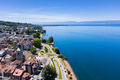 Aerial view of Evian (Evian-Les-Bains) city in Haute-Savoie in France - PhotoDune Item for Sale