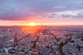 Aerial view of Eiffel Tower - La tour Eiffel in Paris France - PhotoDune Item for Sale