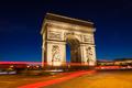 Night view of Arc de Triomphe - Triumphal Arc in Paris, France - PhotoDune Item for Sale