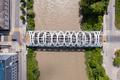 Aerial view of Hans-Wilsdorf bridge near plainpalais in Geneva - Switzerland - PhotoDune Item for Sale
