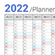 Calendar 2022 Planner Vertical Simple Style - GraphicRiver Item for Sale