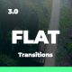 Clean Flat Transitions - VideoHive Item for Sale