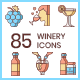 85 Winery Icons | Honey Series - GraphicRiver Item for Sale