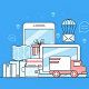 Online Shopping Business Concept Flat Design - GraphicRiver Item for Sale
